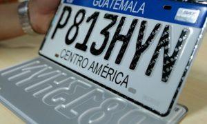 cambio de placas en Guatemala